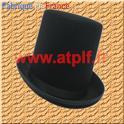 """Chapeau Haut de forme """" Gibus Longchamp"""" noir"""