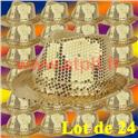 Lot de 24 Borsalino Disco Sequin Paillettes Or