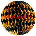 Boule de décoration festonnée 28.5cm Tricolore