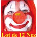 Lot de 12 Nez de Clown en mousse rouge