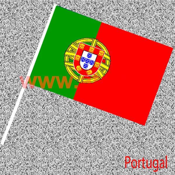 Drapeau nationaux en papier 14x21cms avec tige - Drapeau portugais a imprimer ...