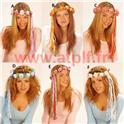 Couronne de  Fleurs avec ruban pour Nymphe,Vestale,prêtresse, Hawaienne,