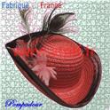 Chapeau Tricorne Pompadour adulte en paille