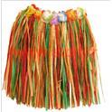 Jupe Hawaienne, Pagne avec ceinture à fleurs 40cm multicolore