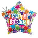 "Ballon Anniversaire Happy Birthday ""Smiley"" Sourire/Visage Mylar Aluminium Imprimé/23cm"