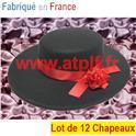 LOT A PRIX PRO: 12 Chapeaux d'espagnol Carmen (feutre)