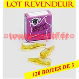 LOT REVENDEUR 120 boites de 3 Boules puantes
