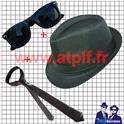 Set blues Brothers 3P (Chapeau+ Cravate +Lunettes)